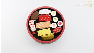 Baby Wooden Toys Simulation Sushi Lunch Box Baby Pretend Play Kitchen Toys Gift for Baby - Video