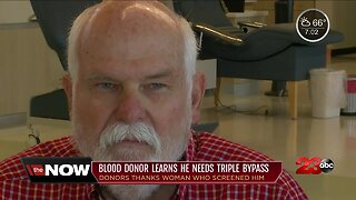 Local man's life saved from blood donation screening