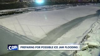 Neighbors worry about possible ice jam flooding