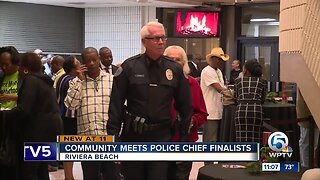 Community meets police chief finalists