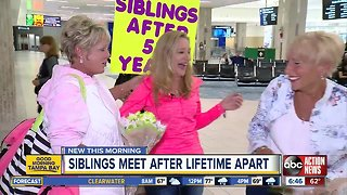 Siblings reunite after 53 years thanks to DNA test through Ancestry.com