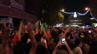 Despite World Cup Elimination Iranian Fans Celebrated Their Team on the Streets - Video