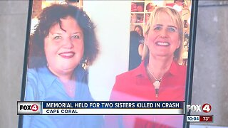 Memorial held for two sisters killed in crash