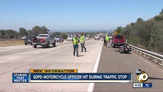 SDPD motorcycle officer hit during traffic stop