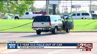 Two year old falls from vehicle in midtown - Video