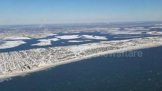"""Flying over Long Island after the """"bomb cyclone"""" - Video"""