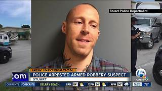 Police arrest armed robbery suspect in Stuart - Video