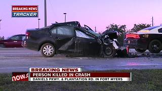 Fatal crash on Daniels Parkway Thursday morning - Video