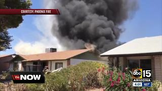 Propane tanks explode in Phoenix house fire - Video