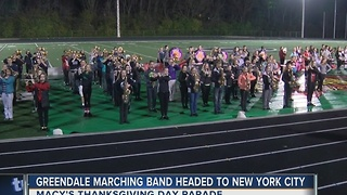 Greendale High School's marching band to take part in Macy's Thanksgiving Day Parade