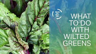Waste not want not: what to do with old spinach? - Video