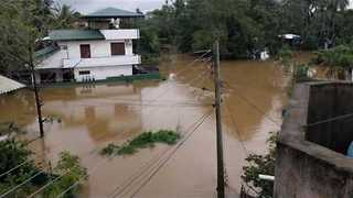 Severe Flooding Hits Area West of Colombo, Sri Lanka - Video