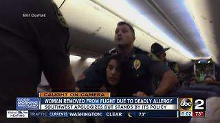 Woman removed from Southwest flight, airline apologizes