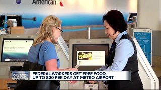 Concession stands at Detroit Metro Airport offering employees free food during shutdown