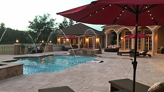 Solar Umbrellas at Sunset at Casa Bella Estate  - Video