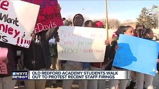 Detroit students walk out in protest of alleged teacher, principal firings - Video