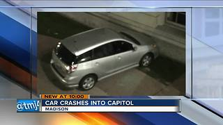 Car crashes into Wisconsin state Capitol - Video