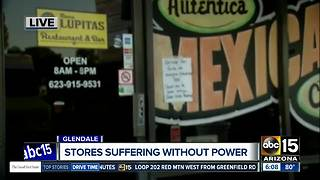 Businesses at Glendale strip mall are struggling after power turned off - Video