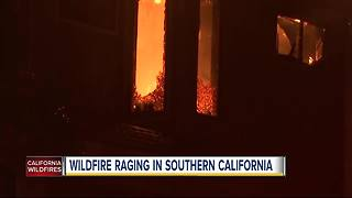 Wildfire raging in Southern California - Video