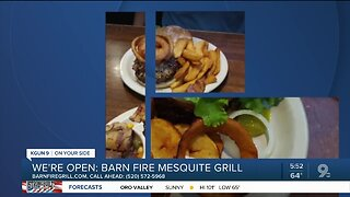 Barn Fire Mesquite Grill offering takeout
