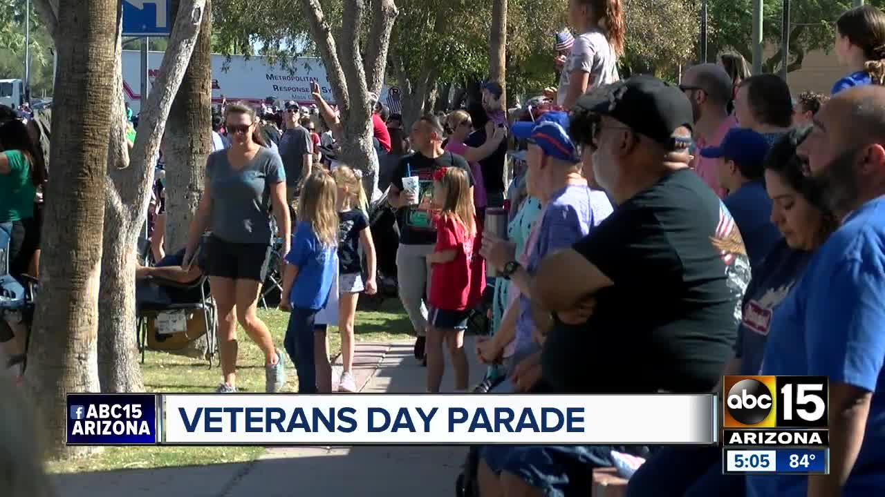 Veterans Day events parade in the Valley