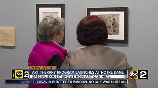 New program at Notre Dame of Maryland University uses art to heal - Video