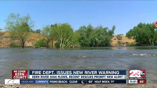 Bakersfield Fire Dept. issues new alert for Kern River - Video