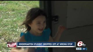 Kindergarten student dropped off at wrong stop - Video