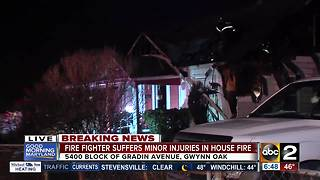 Firefighter injured while battling house fire in Gwynn Oaks