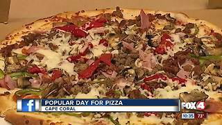 Popular day for pizza - Video