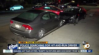 Hit-and-run driver sought in Normal Heights wreck