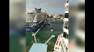 Norwegian Cruise Ship Collides With Dock in San Juan