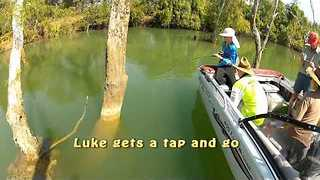 Kid Catches Massive Fish on Father and Son Fishing Trip in Oz - Video
