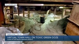 Virtual town hall on toxic green ooze in Madison Heights