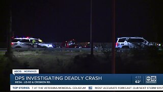 Deadly crash shuts down portion of US-60 in Mesa