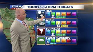 Mark McGinnis' Wednesday afternoon Storm Team 4cast - Video