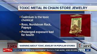 Warning about toxic jewelry