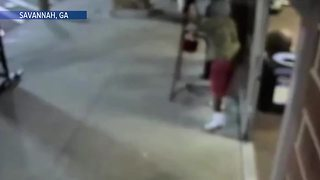 Man caught on video stealing Salvation Army Red Kettle from donation area - Video