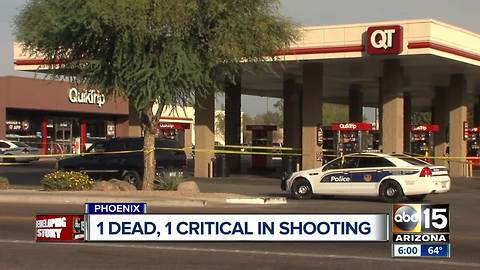 Shooting in north Phoenix leaves 1 dead, 1 seriously injured