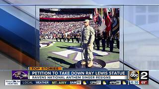 Ravens National Anthem singer resigns - Video