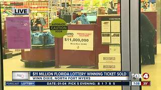 $11 miilion Lottery ticket sold in North Fort Myers - Video