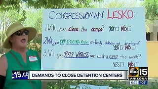 Valley demonstrators demand detention centers be closed