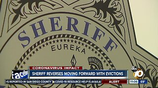 San Diego Sheriff reverses moving forward with evictions