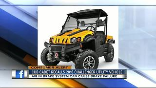 Cub Cadet recalls 2016 challenger utility vehicles due to brake failure - Video