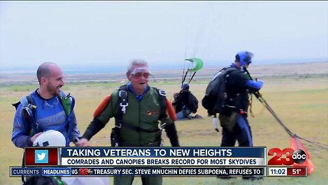 Comrades and Canopies takes local veterans to new heights