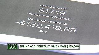 Sprint accidentally gives man $139,000 - Video