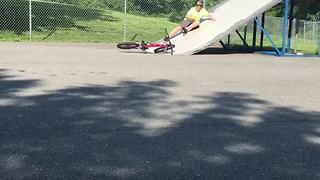 Bike Up Slide Fail