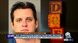 DCF investigator admits falsifying records