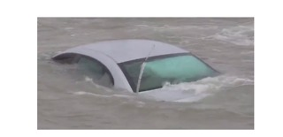 Driver Abandons Car on Slippery Wisconsin Road, and Lake Michigan Claims it Shortly After - Video