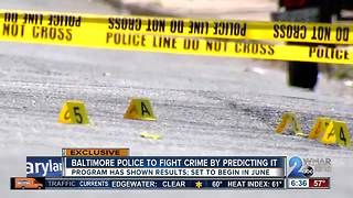 Baltimore police trying to stop crime before it happens - Video